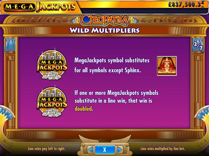 CLEOPATRA MEGA JACKPOTS